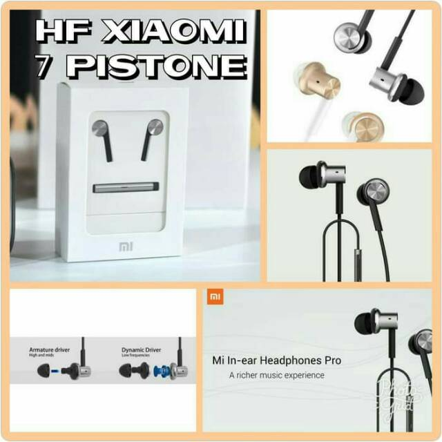 HANDSFREE HEADSET XIAOMI MI PISTON 7 ORIGINAL STEREO SUPER BASS