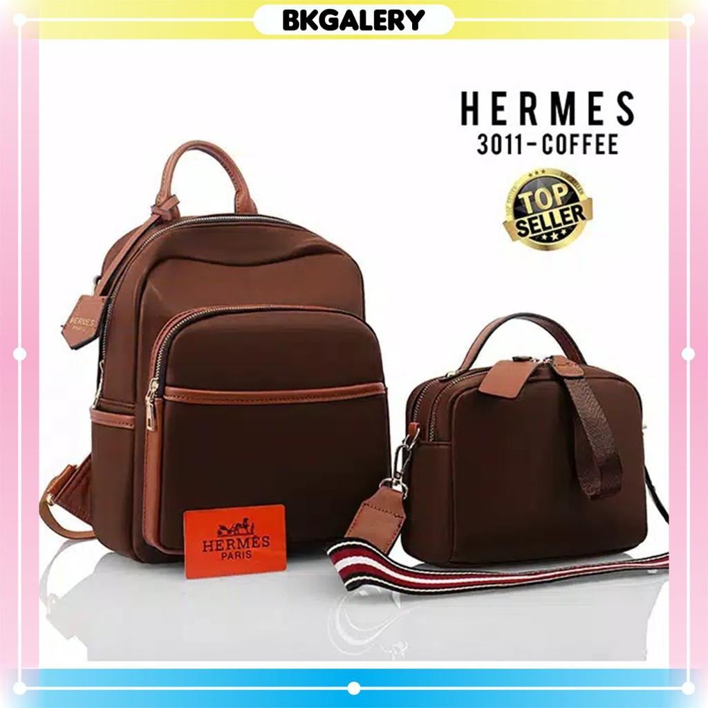 (COD) Ransel branded H**MeS 3011 Set Handbag With Strap ...