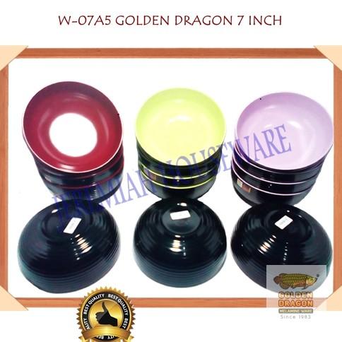 W0705 Mangkok Melamin Kaki 5 inc Hijau Stabilo Golden Dragon | Shopee Indonesia