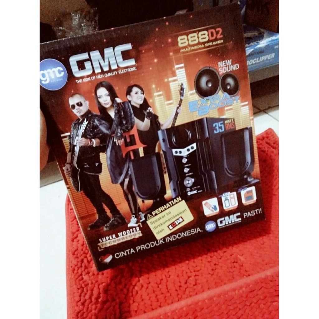 Multimedia Speaker Gmc 888d2 Cocok Untuk Tv Dvd Pc Laptop Handphone Aktif Berkualitas Shopee Indonesia