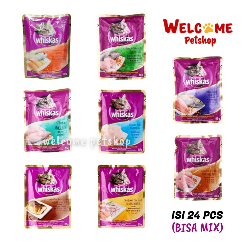Whiskas 85gr Pouch Makanan Basah Variant Junior Tuna Dan Dry 480gr Kucing Kering Rasa Mackerel Shopee Indonesia