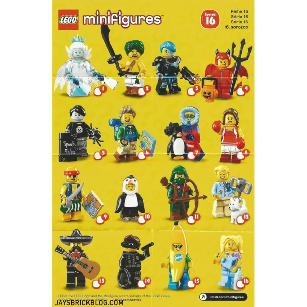 Series 17 LEGO Collectable Minifigures Full Set of 16