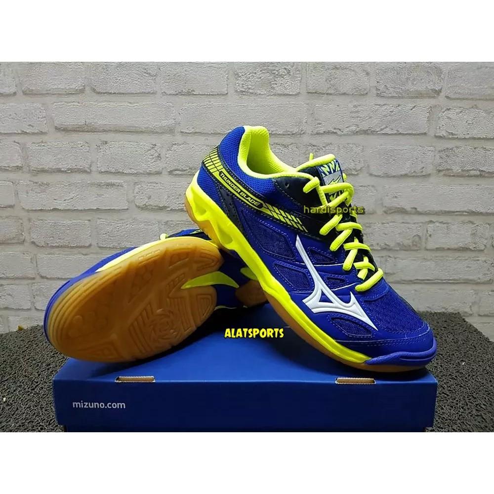 Sepatu Volly Voli Mizuno Original Wave Bolt 7 V1Ga186023 Dress Biru Putih  Kuning  6764398a54