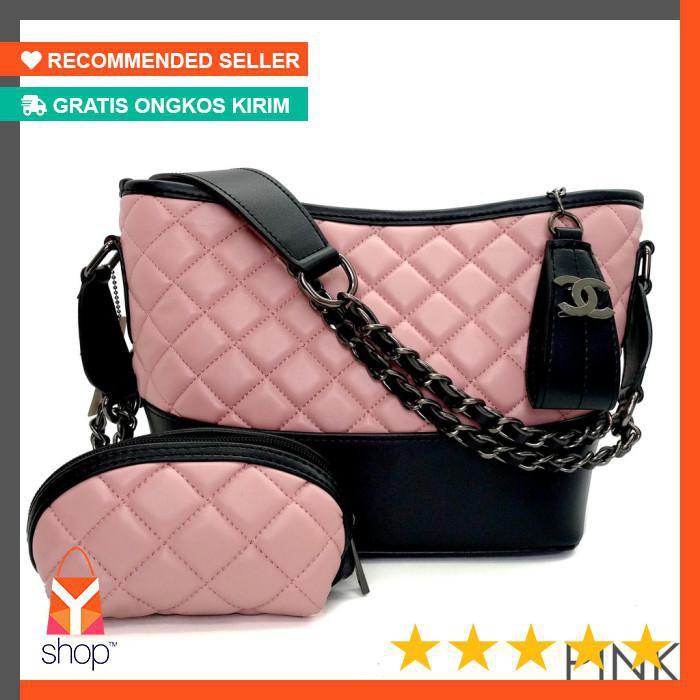 f9e26d757a407e HANDBAGKU TAS CHANEL GABRIELLE BONUS DOMPET fashion wanita import batam  murah selempang