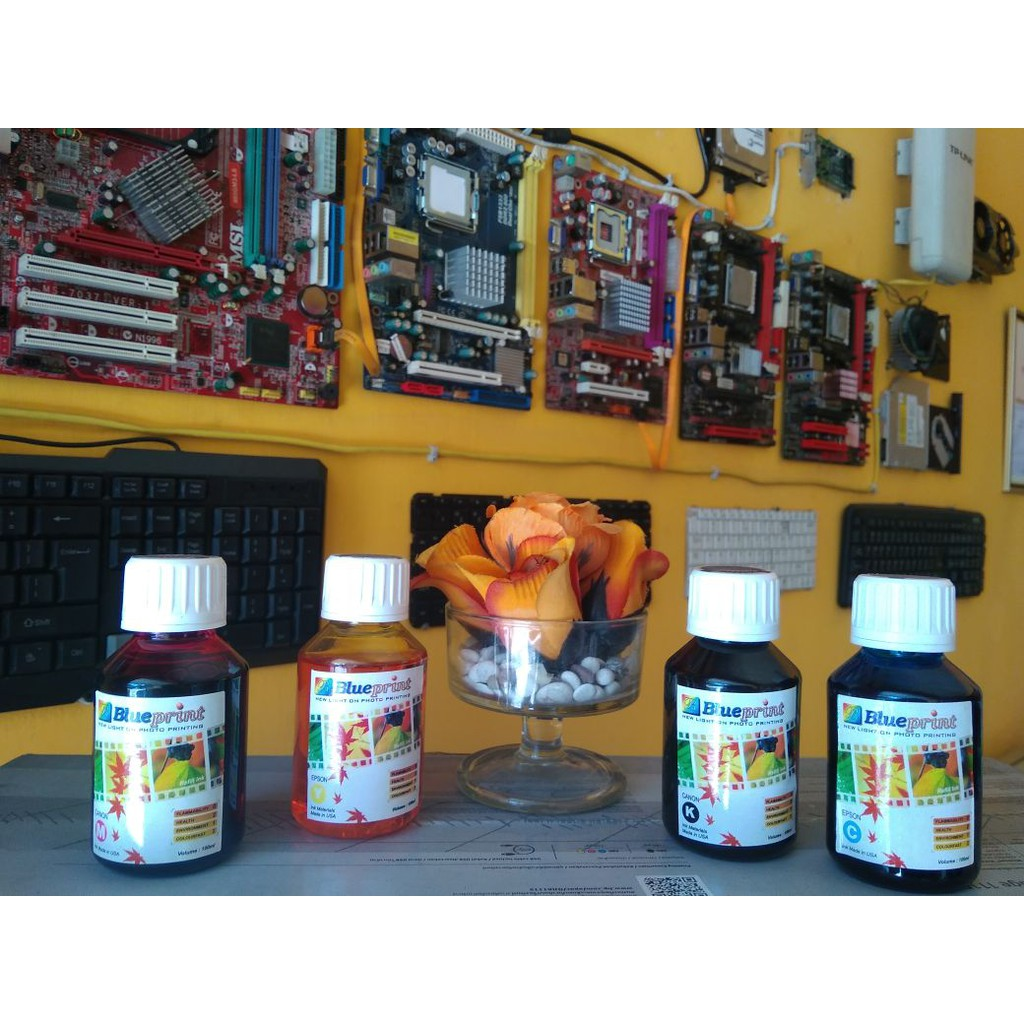 Paket Tinta Art Paper Epson Diamond Ink Best Photo Quality Grade A Isi Ulang L300 L350 L120 L310 L220 L360 L365 L455 L565 L1300 L1800 L800 L805 T60 R230 Sp1390 Shopee Indonesia