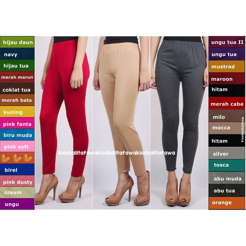Legging Dewasa Kaos Polos Fit To Xxl Celana Panjang Wanita Legging Polos Kaos Dalaman Leging Jumbo Shopee Indonesia