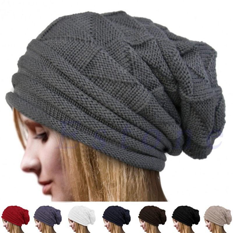 Aksesoris Fashion Pria Wanita  Topi Kupluk Model Renda Crochet Baggy Hangat  untuk Musim Dingin  8023c7d83c