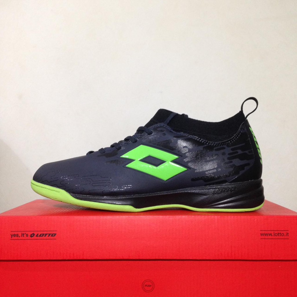 Sepatu Futsal Lotto Veloce IN Blade Black Green L01040003 Original BNIB 87e3bc735e