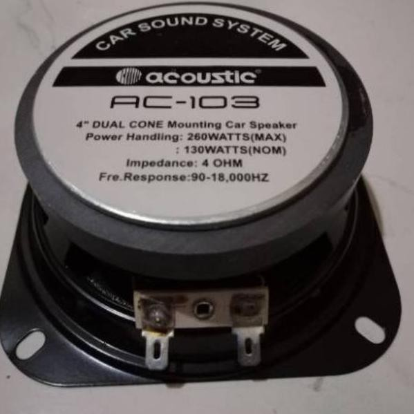 "Model- Speaker woofer 4inch 4in acoustic / speaker mobil acoustic 4"" 260watt"