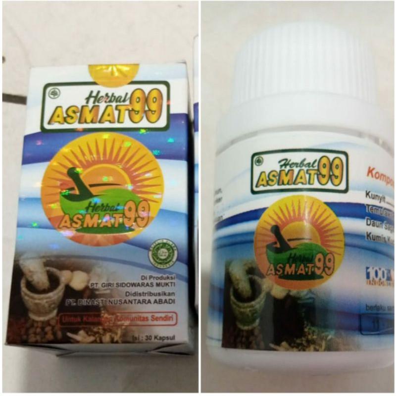 Asmat99 Obat herbal Untuk Segala Macam penyakit Kemasan Botol isi 30 kapsul