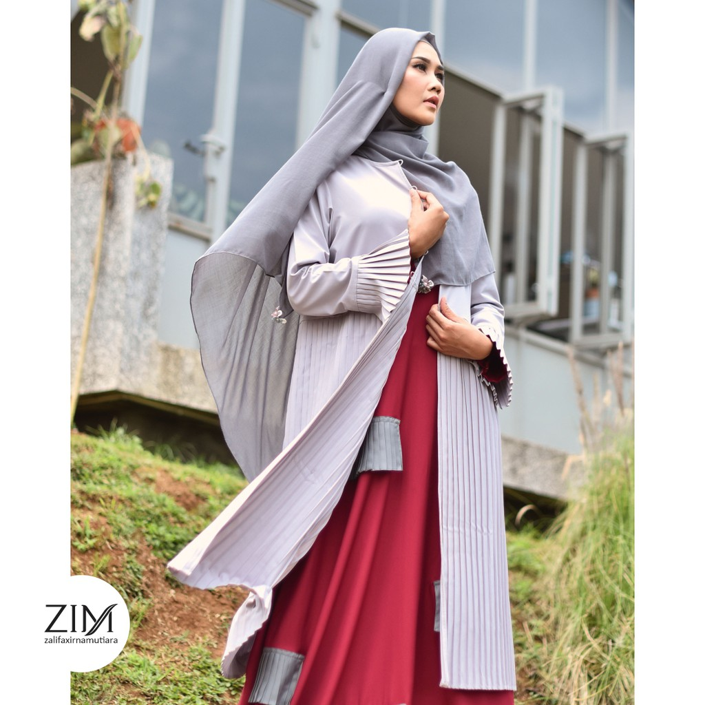 Armine Outer by Zalifa x Irna Mutiara - Baju Muslim Wanita - Atasan Gamis