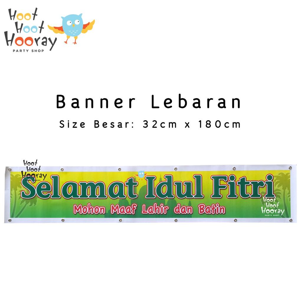 Banner Idul Fitri Dekorasi Hiasan Lebaran Pernak Pernik Idul Fitri Shopee Indonesia