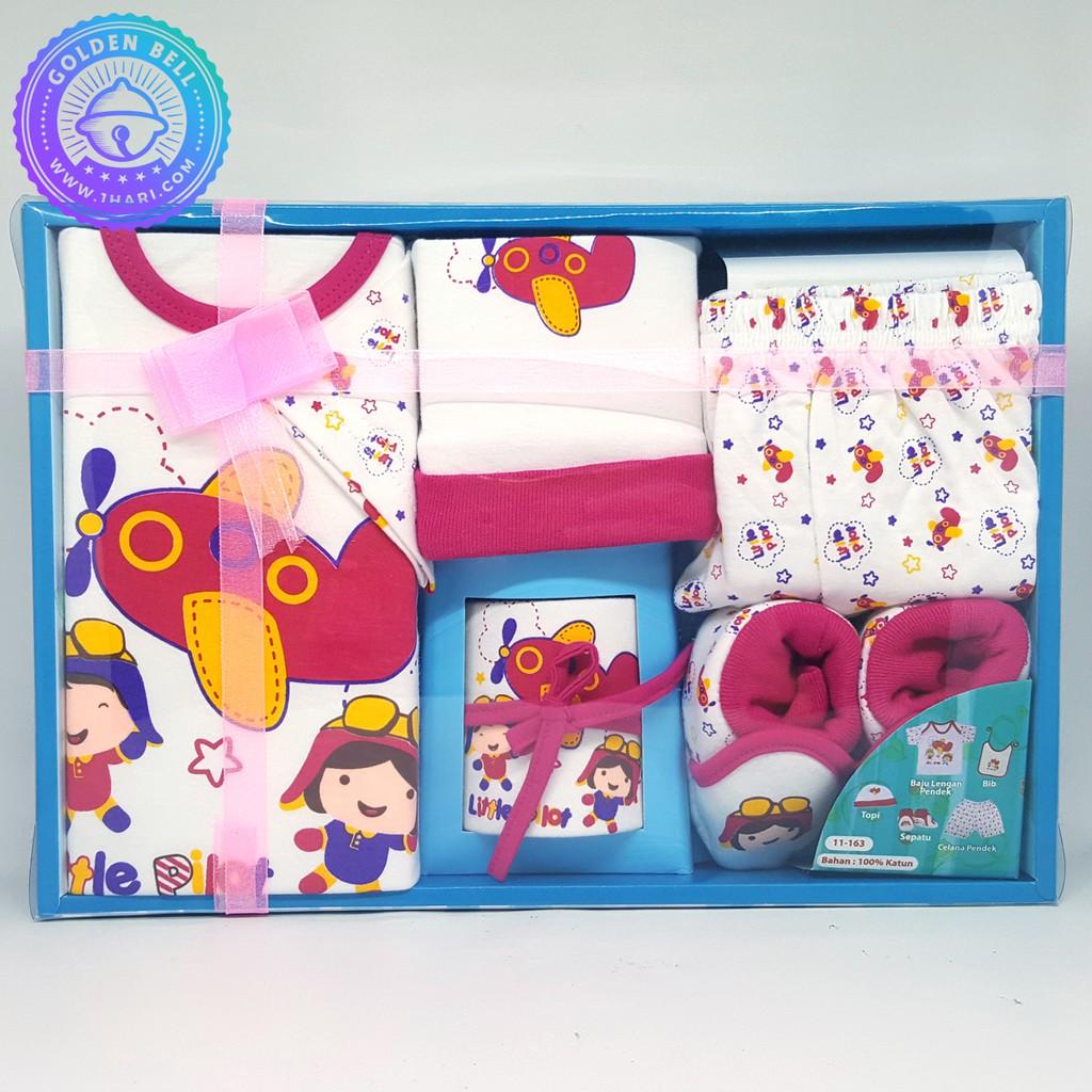 Save 26 Atasan Bayi Idiskon Baju Oblong Iol Set Baru Lahir Plane Pink Paket Hadiah Newborn Baby Gift