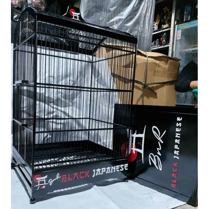 sangkar kotak BnR Black Japanese 3D