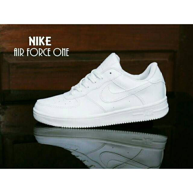 Sepatu Sneakers Nike Airforce 1 One Murah Grosir Perempuan Wanita Cewe FULL  White PREMIUM Grade ori  71ce2c8c64