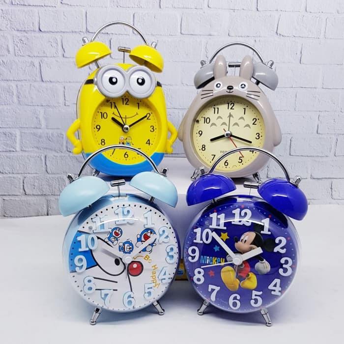 MH Jam Weker Beker Alarm Kring Mini Karakter Disney  9f8ece98a2