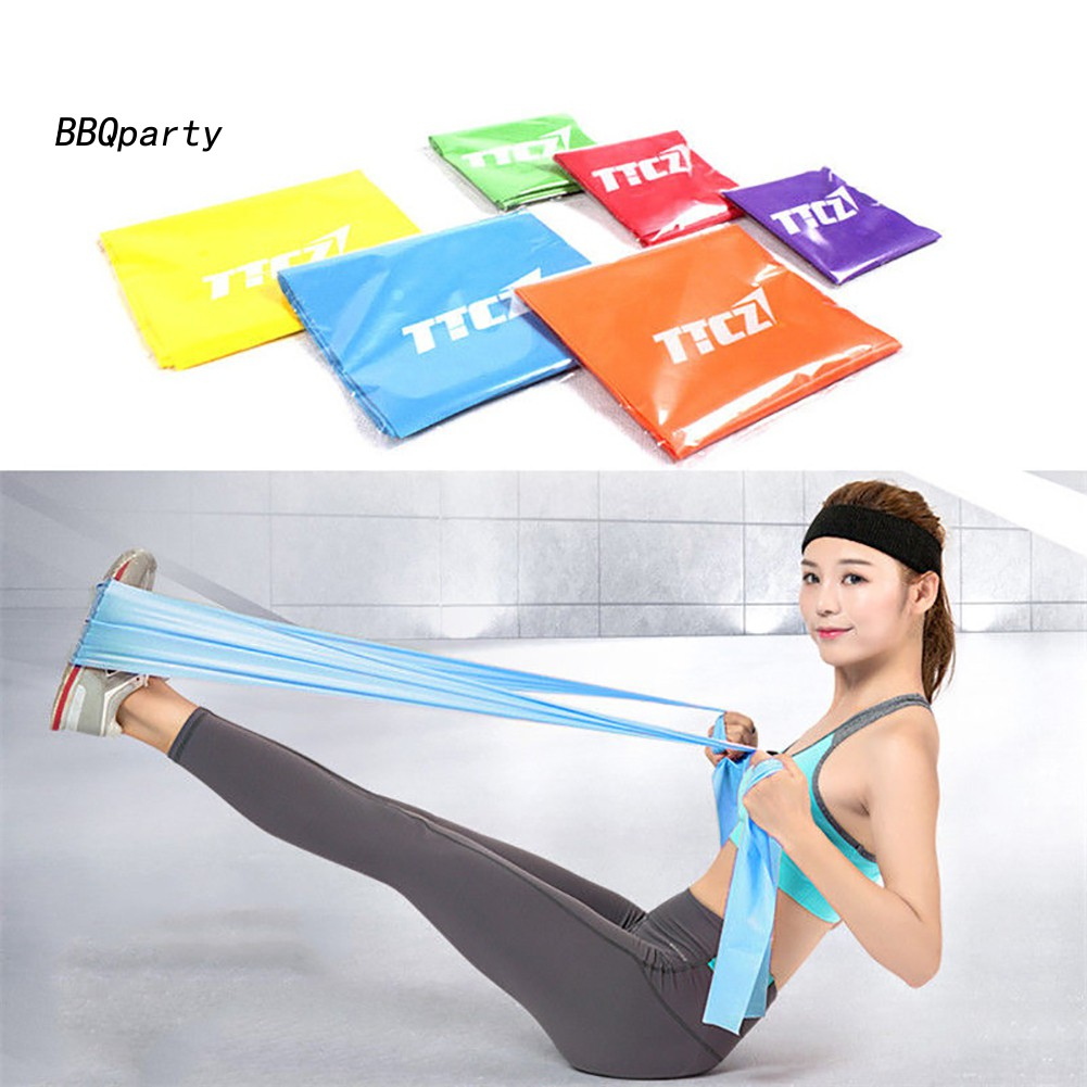 Latex Resistance Yoga Band Elastic Muscle Fitness Training Pilates Band Exercise