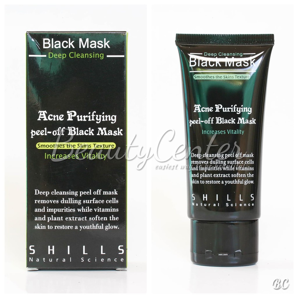 Shills Black Mask 100 Ori Import Purifying Peel Off Shil Original Shill Deep Cleansing Acne Shopee Indonesia