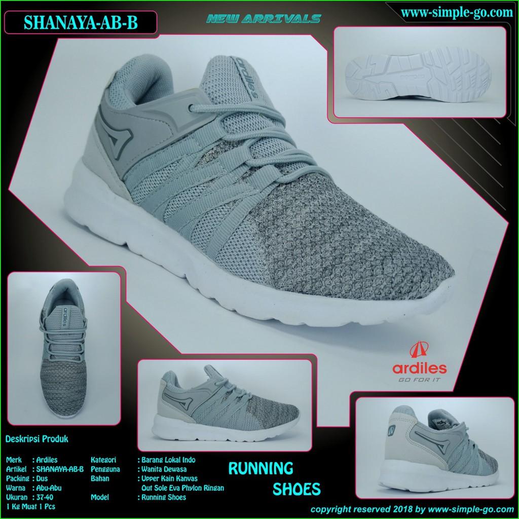 Ando sepatu sport wanita lindsey hitam fucia 37-40  9b03558437