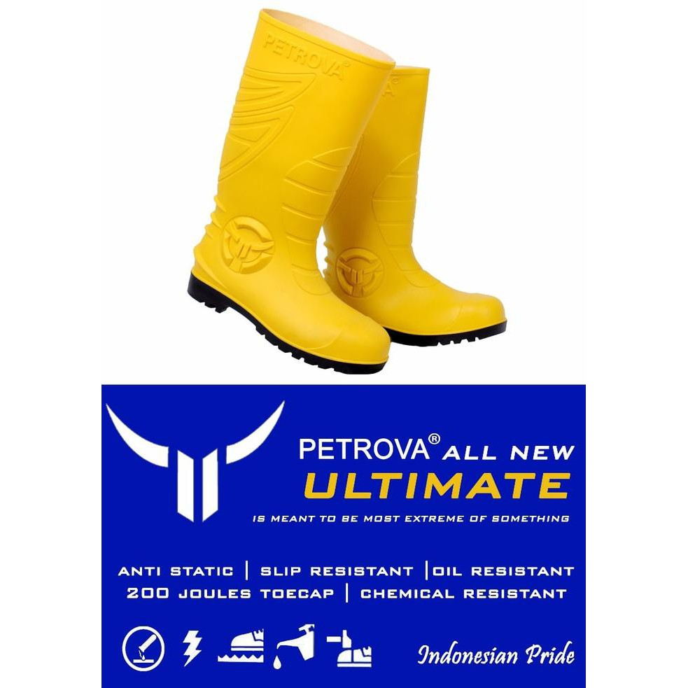 Disc Petrova Ultimate Safety Boot PVC Yellow Sepatu Karet Kuning Anti Air  GIR217  b7495433c9