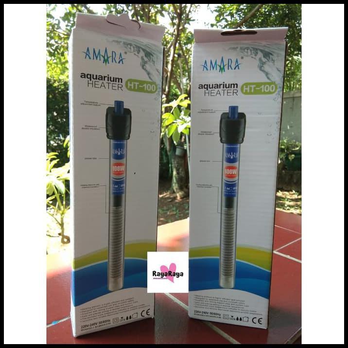 Heater 100 Watt 100w Pemanas Aquarium Akuarium Aquascape Penghangat Shopee Indonesia