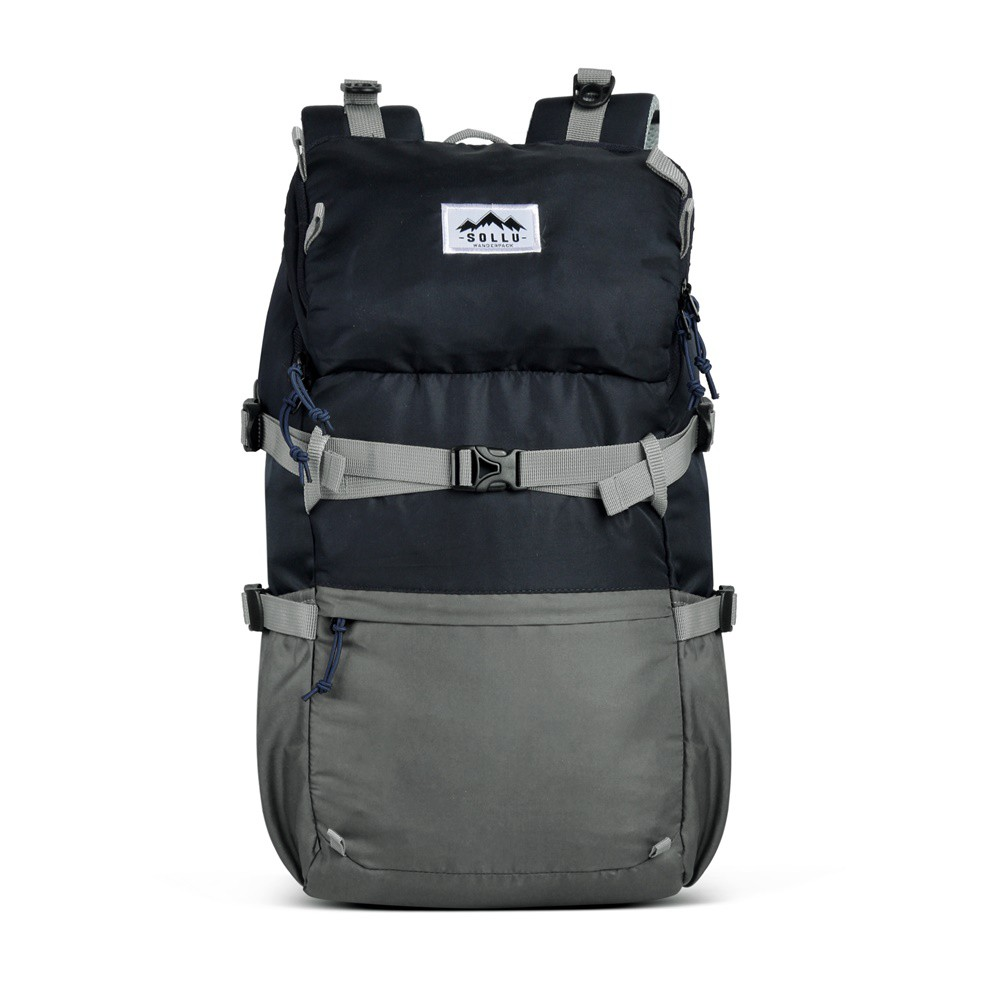 Tas Ransel Backpack Outdoor Waterproof, laptop 14 Inch, Caldera Navy Grey