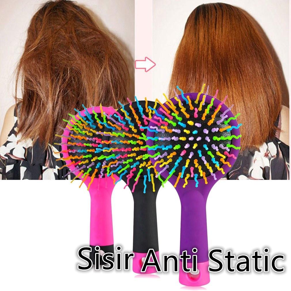 Usupso Anti Static Sculpture Hair Comb Sisir Rambut Orange Black Teddy Bear Phone Chase Strip Blue And White Shopee Indonesia