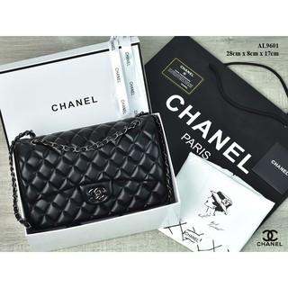 TAS BRANDED IMPORT MURAH- Tas Chanel Classic Flap Medium Lambskin BHW HITAM  Semi Premium AL9601  70ac38ab3c