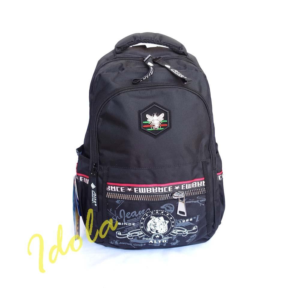 Idolabags - Tas Punggung Cowok Casual Alto Terbaru/ Backpack Cowok Remaja Kuat dan Tahan Lama