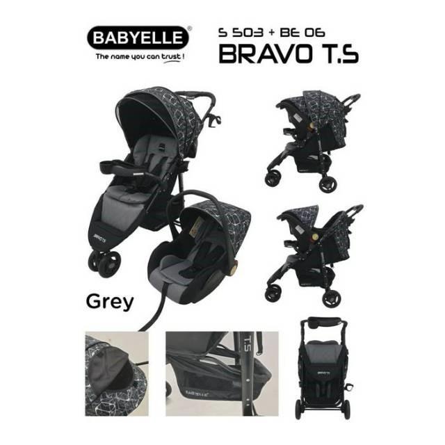 Stroller BabyElle 503 Travel System Bravo dengan Car Seat ...