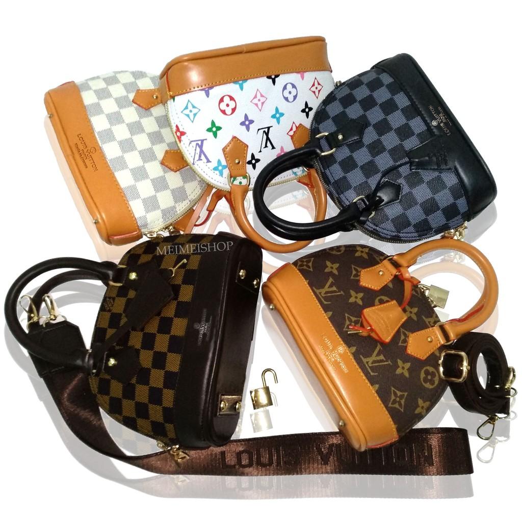 tas lv alma mini damier fashion import batam slempang 2 STRAP termurah  terbaru selempang branded  27429ea0fb