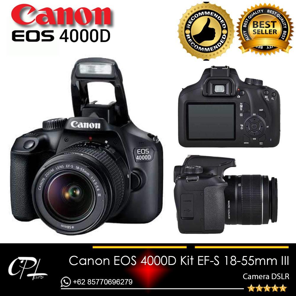Canon Eos 1300d Kit Ef S 18 55 Iii 18mp Bergaransi Resmi Data Scrip Fujifilm X E1 Lensa 55mm F 28 4 R Lm Ois Paket Lengkap Shopee Indonesia