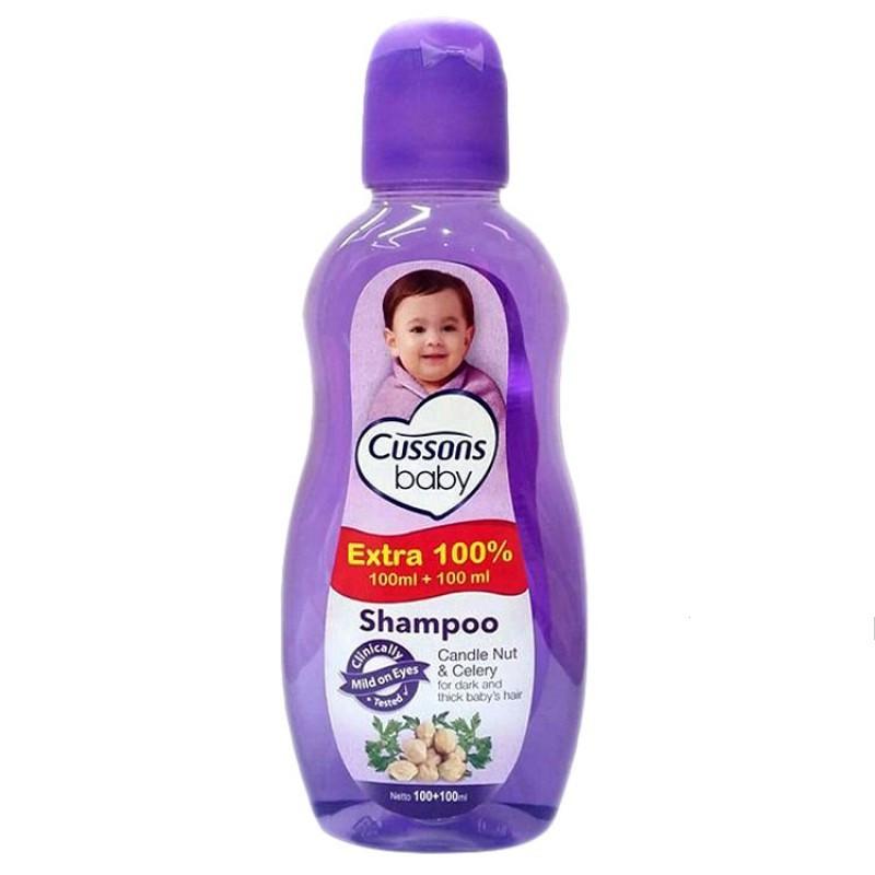 ORIGINAL Cussons Baby Shampoo 100ml+100 ml & 50ml+50ml / Cusson Shampoo Bayi / LEDI MART-1