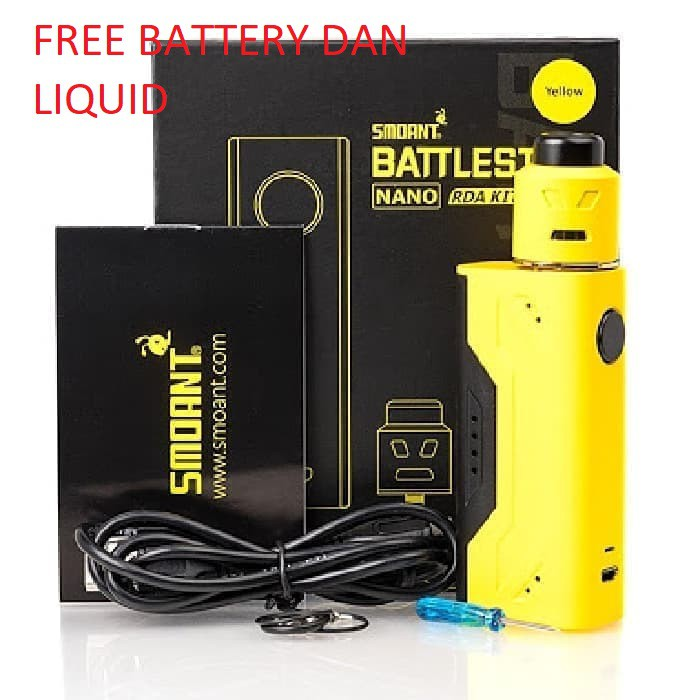 SMOANT BATTLESTAR NANO RDA KIT Authentic battle star vape vapor vaping mod boxmod box mod murah | Shopee Indonesia
