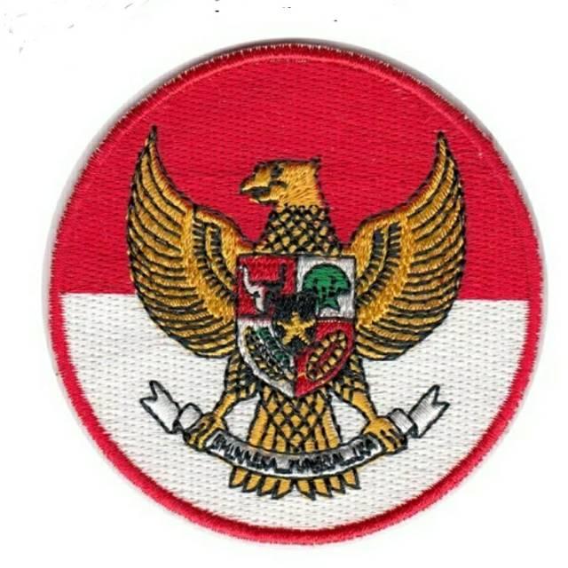 Patch Emblem Badge Bet Logo Atribut Bordir Embroider Komputer Burung Garuda Pancasila Indonesia Shopee Indonesia
