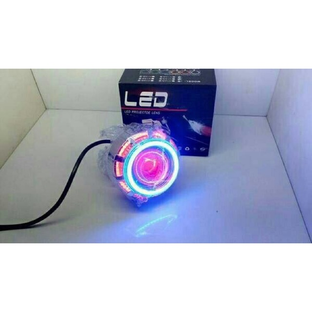Led Projie Projector Led Lampu Projector Double Ae Angel Eye Bulat