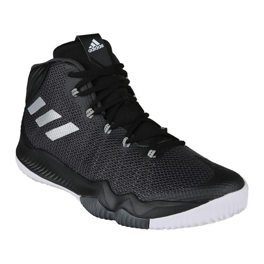 AD-LZ Adidas Crazy Hustle Men's Basketball Shoes - Core Black Sepatu Pria / Sepa | Shopee Indonesia