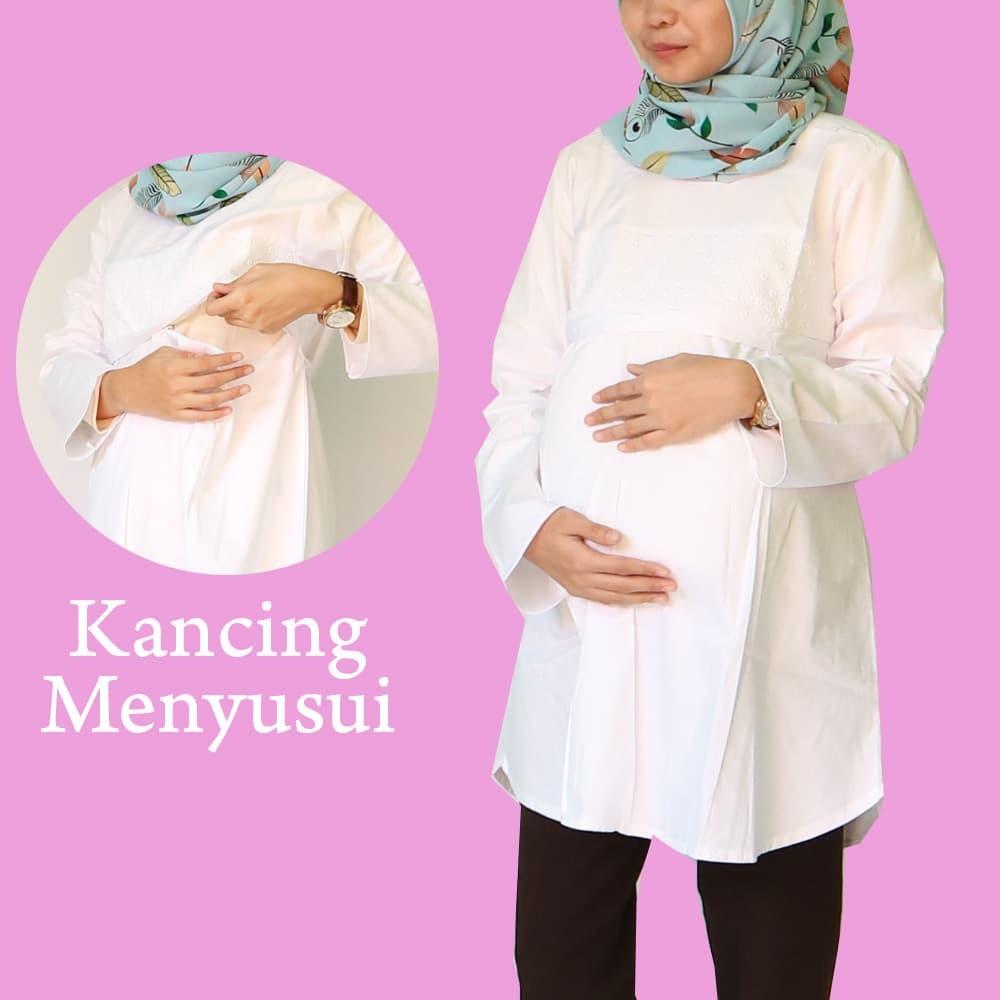 Dapatkan Harga Atasan Baju Hamil Fashion Muslim Diskon Shopee Just Mom Menyusui Arietta Green 105 Indonesia