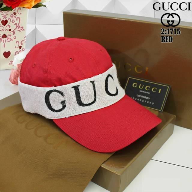 Topi Gucci Premium Full Logo Embos Label Tag Gucci Import  eb086d212e