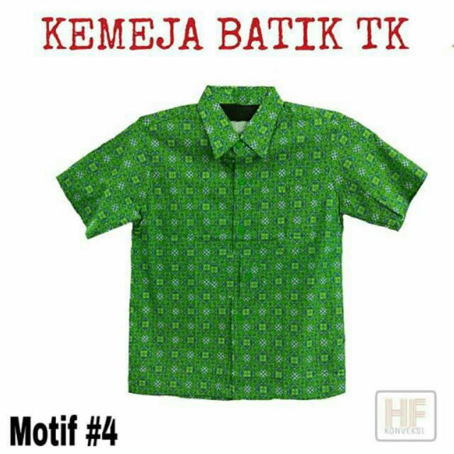 Baju Kemeja Batik Tk   Seragam Batik Anak  4  be4eb4ce96