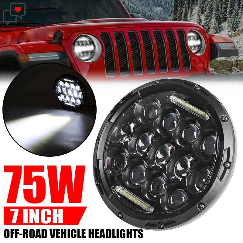 Jeep Wrangler Led Headlights >> Jeep Jk Tj Lj Wrangler Auto Led Headlight Led Headlight Hi Lo Beam Angel Eyes Light Bulbs