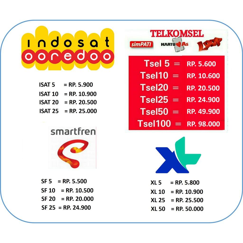 Pulsa Murah All Operator 5000 - 10000 | Shopee Indonesia