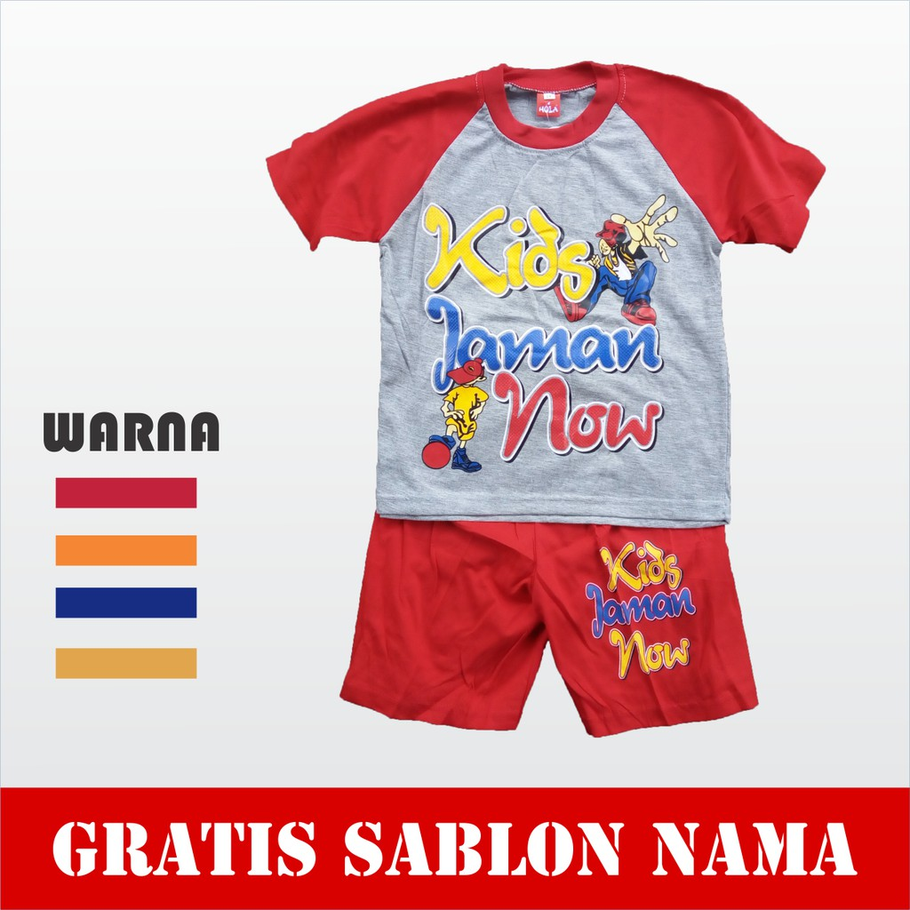 Macbear Kids Baju Anak Setelan Army Power Shopee Indonesia Polo Little Dino Park Variasi Dasi Size 1 Merah
