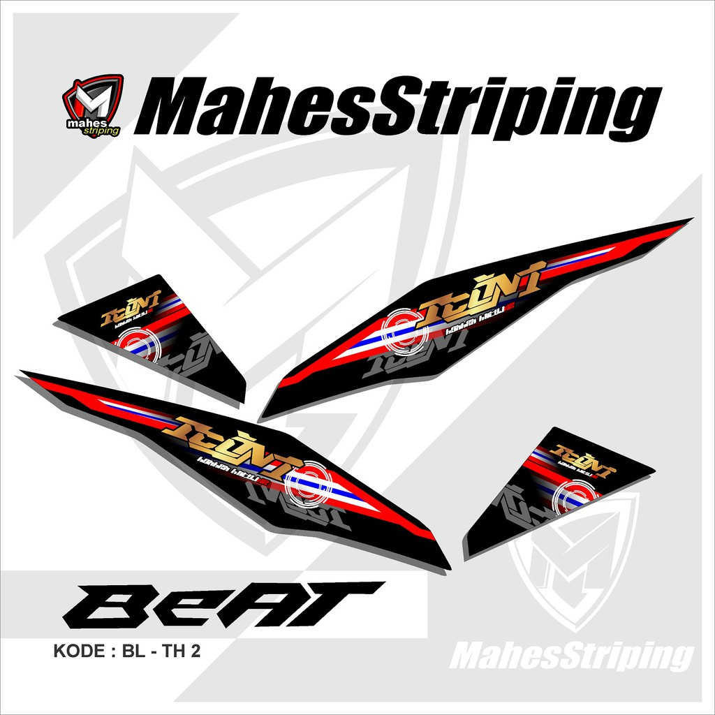 Sticker Stiker Striping Variasi List Motor Honda Beat Fi Motif Thailook Babylook 02 Shopee Indonesia