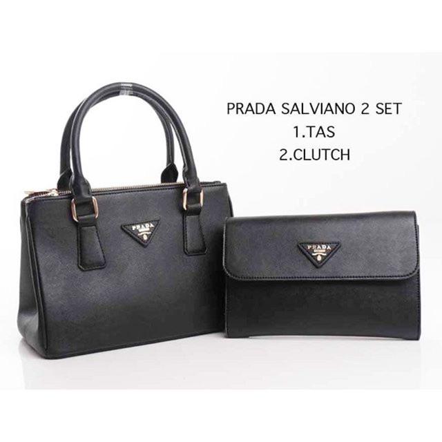 TAS PRADA SALVIANO 2in1 BLACK  84cc74c1fc