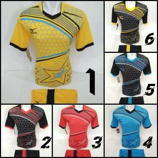 TERLARIS MIZUNO SARANG BINTANG [ MZ 19 ] Baju Kaos Olahraga Jersey Bola Setelan Futsal / Volly