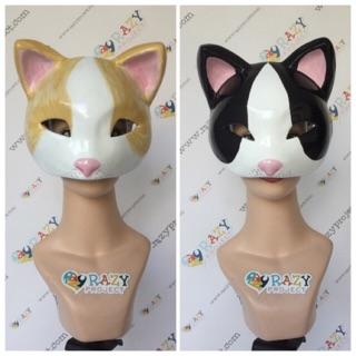 Neko Cat Kucing Mask Topeng Kayu Cosplay Anime Jepang ...