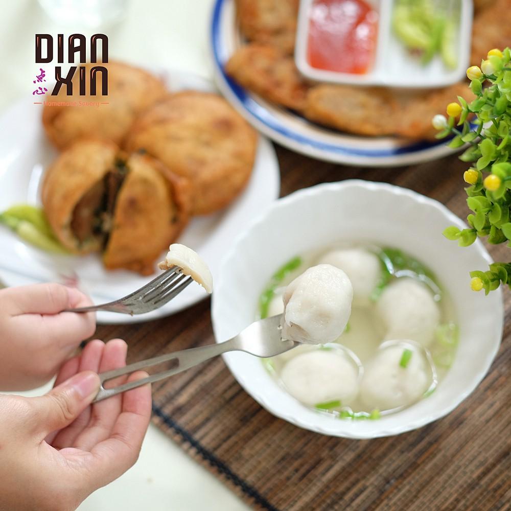 Hiwan Bakso Ikan Isi Babi Pork Filled Fish Meatball Dianxin Pack Vakum Frozen Non Halal Shopee Indonesia