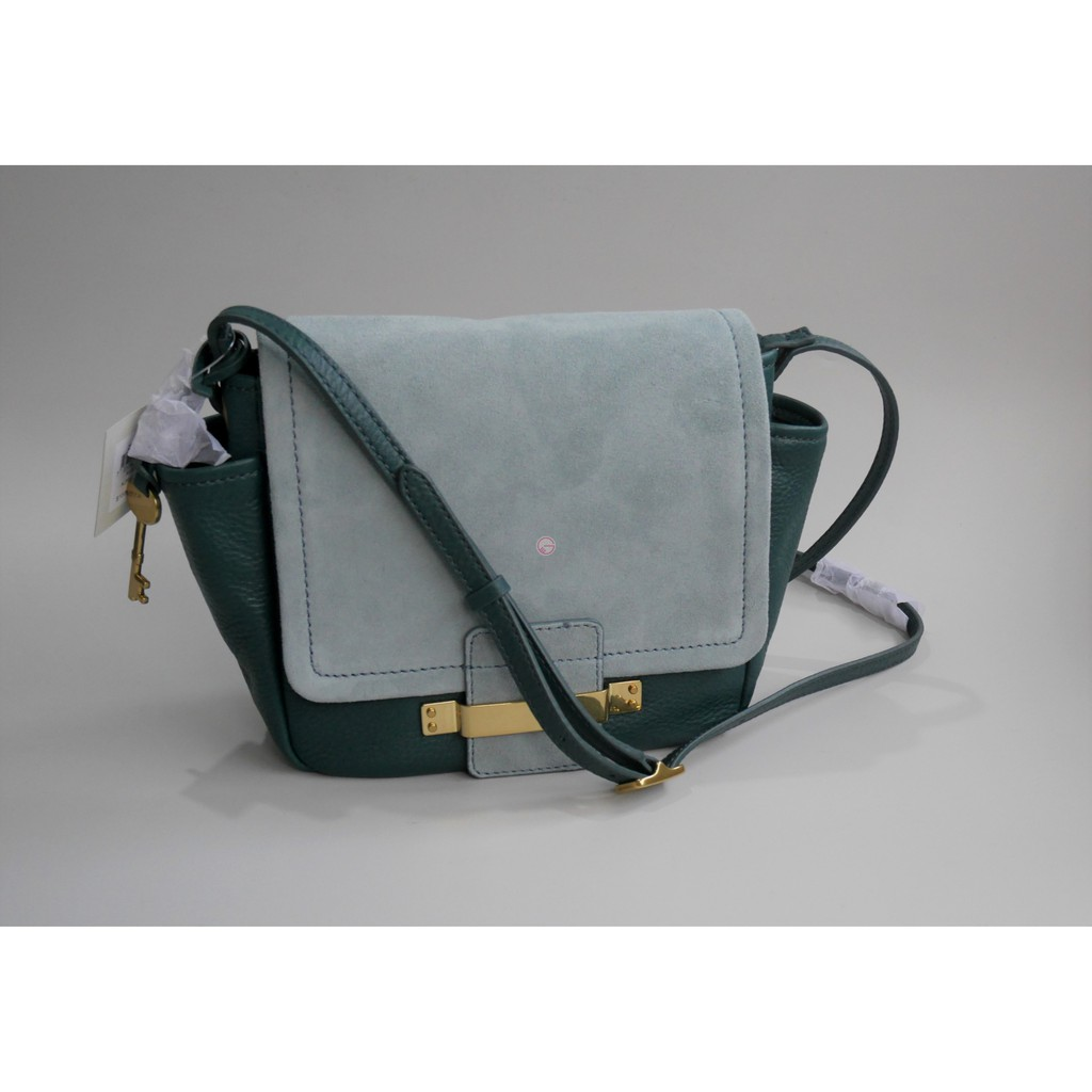 Fossil Emma Satchel Marine Shopee Indonesia Grey Kepang