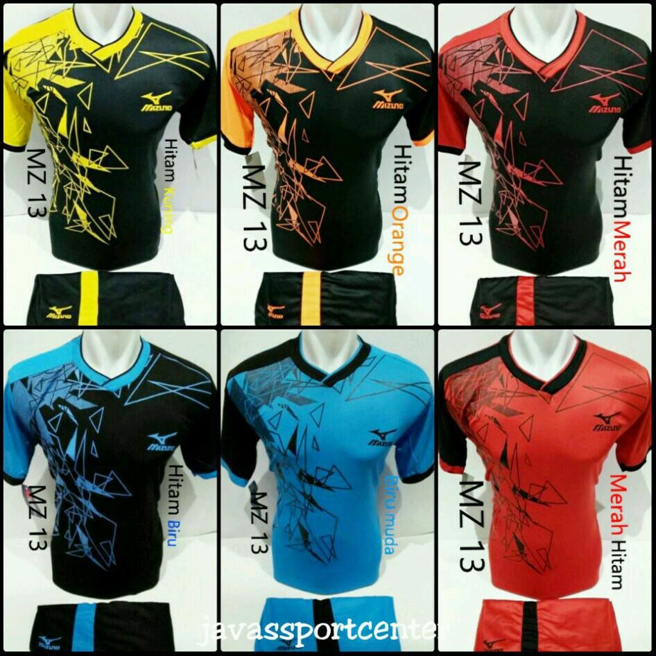 baju olahraga kaos setelan jersey voli / volly tim MZ mizuno terbaru merah | Shopee Indonesia
